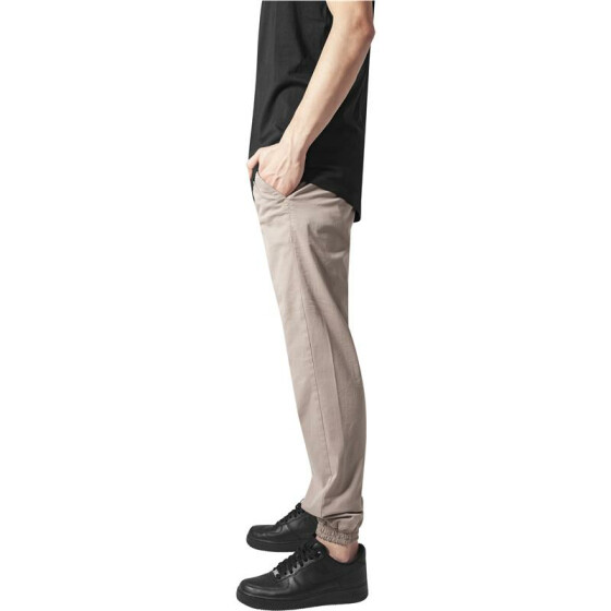 Urban Classics Stretch Twill Jogging Pants, beige