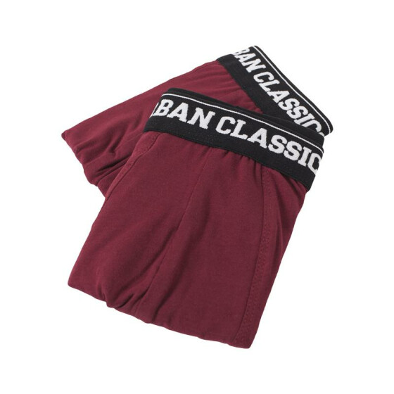 Urban Classics Men Boxer Shorts Double Pack, burgundy/burgundy