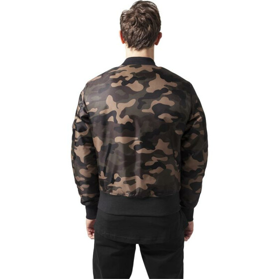 Urban Classics Camo Basic Bomber Jacket, wood camo