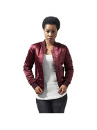 Urban Classics Ladies Satin Bomber Jacket, burgundy