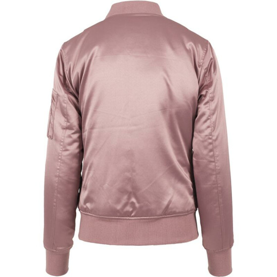 Urban Classics Ladies Satin Bomber Jacket, oldrose