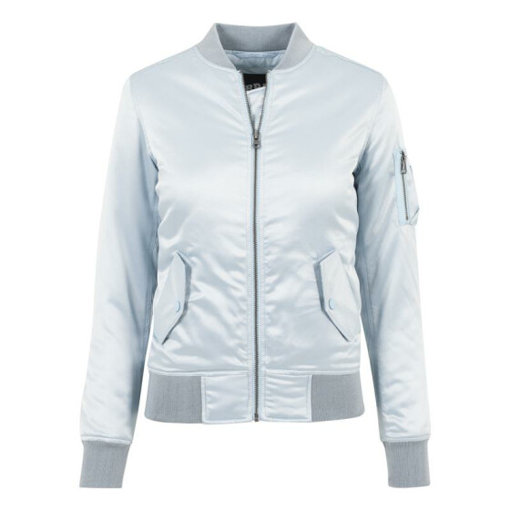 Urban Classics Ladies Satin Bomber Jacket, babyblue