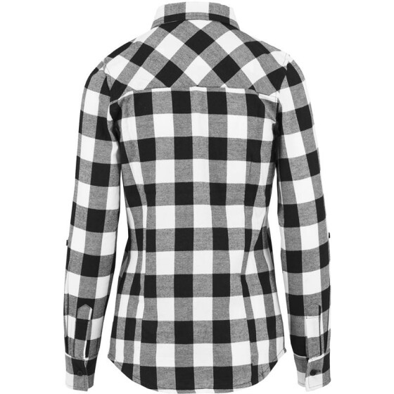 Urban Classics Ladies Turnup Checked Flanell Shirt, blk/wht
