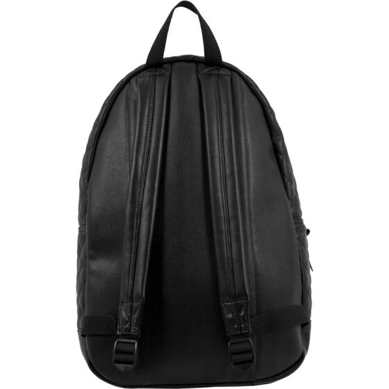 Urban Classics Diamond Quilt Leather Imitation Backpack, black