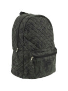 Urban Classics Diamond Quilt Leather Imitation Backpack, camo