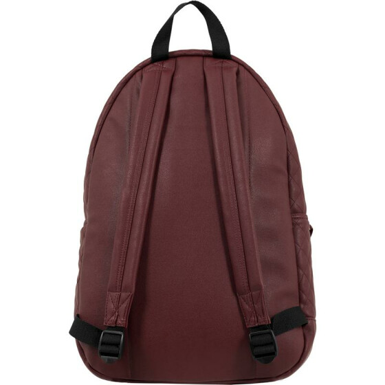 Urban Classics Diamond Quilt Leather Imitation Backpack, burgundy