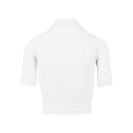 Urban Classics Ladies Cropped Turtleneck Tee, white