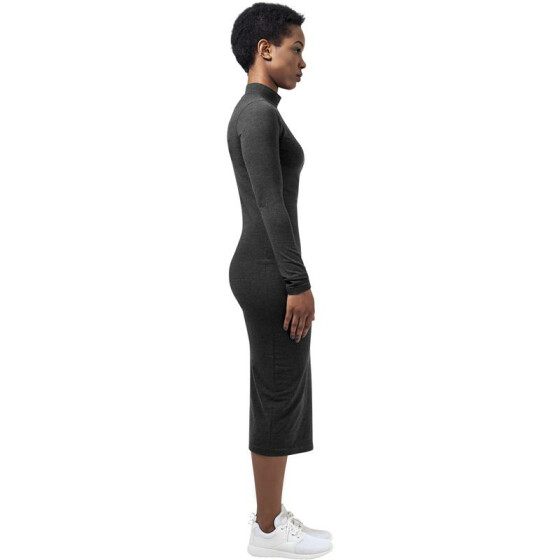 Urban Classics Ladies Turtleneck L/S Dress, charcoal