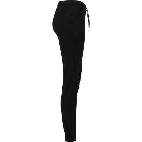 Urban Classics Ladies Cutted Terry Pants, black