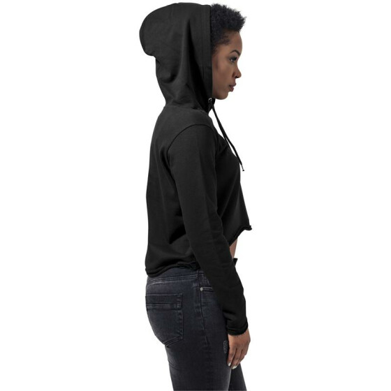 Urban Classics Ladies Cropped Terry Hoody, black