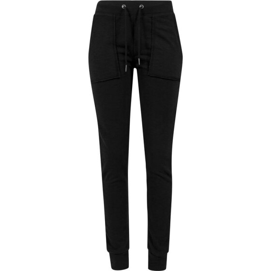 Urban Classics Ladies Fitted Slub Terry Pants, black