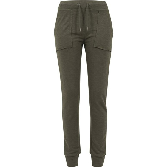 Urban Classics Ladies Fitted Slub Terry Pants, olive