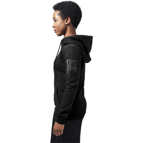Urban Classics Ladies Bomber Hoody, black
