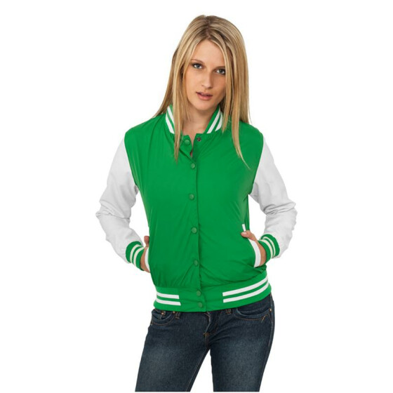Urban Classics Ladies Light College Jacket, cgr/wht