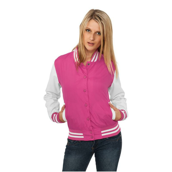 Urban Classics Ladies Light College Jacket, fus/wht