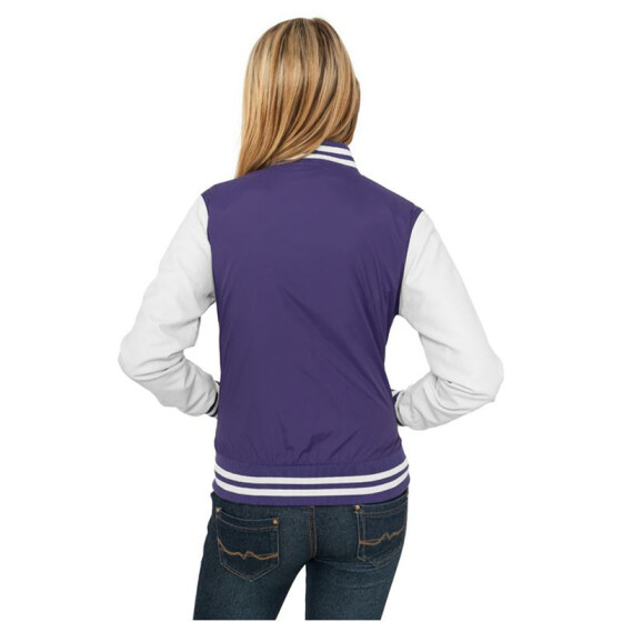 Urban Classics Ladies Light College Jacket, pur/wht