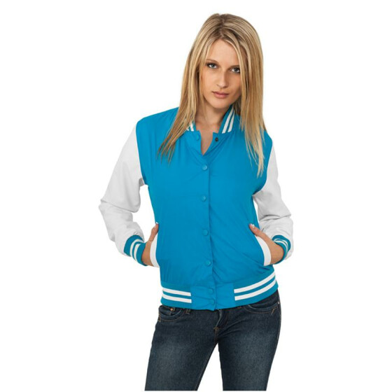 Urban Classics Ladies Light College Jacket, tur/wht