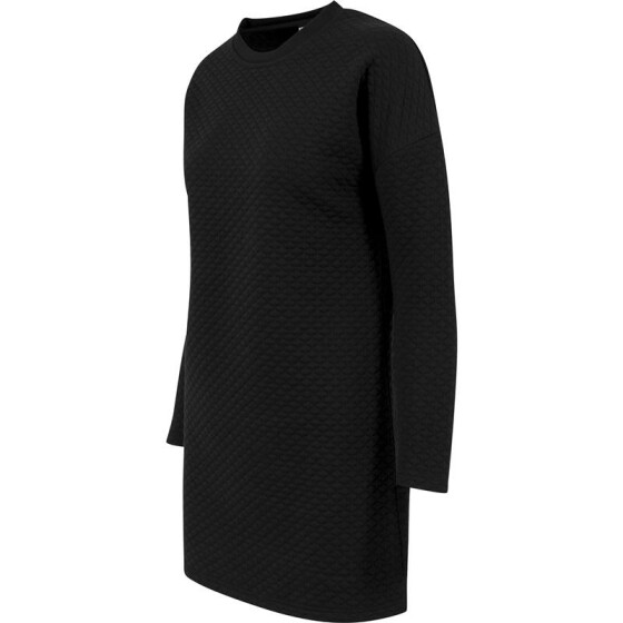Urban Classics Ladies Quilt Oversize Dress, black