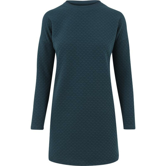 Urban Classics Ladies Quilt Oversize Dress, petrol