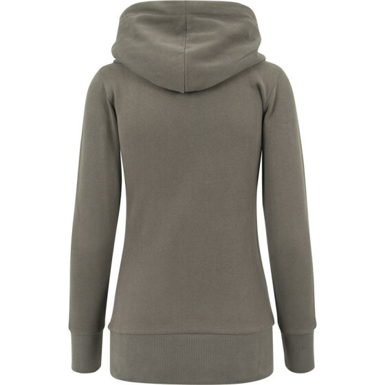 Urban Classics Ladies Long Logopatch Hoody, olive