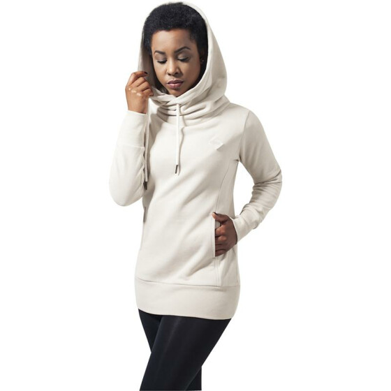Urban Classics Ladies Long Logopatch Hoody, sand
