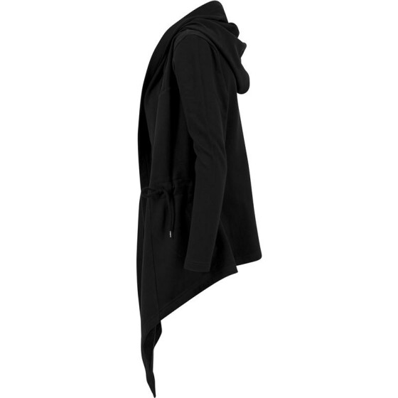 Urban Classics Ladies Hooded Sweat Cardigan, black