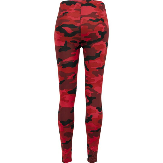 Urban Classics Ladies Camo Leggings, red camo