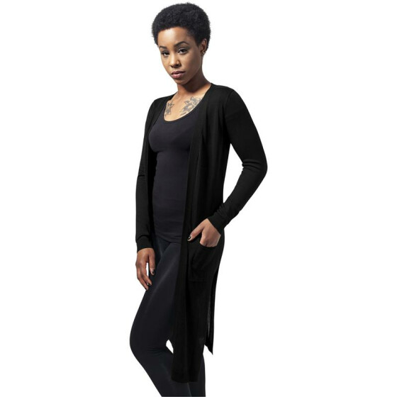 Urban Classics Ladies Fine Knit Long Cardigan, black