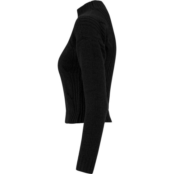 Urban Classics Ladies Short Turtleneck Sweater, black