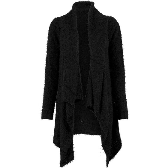 Urban Classics Ladies Knit Feather Cardigan, blk/blk