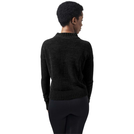 Urban Classics Ladies Chenille Turtleneck Crew, black