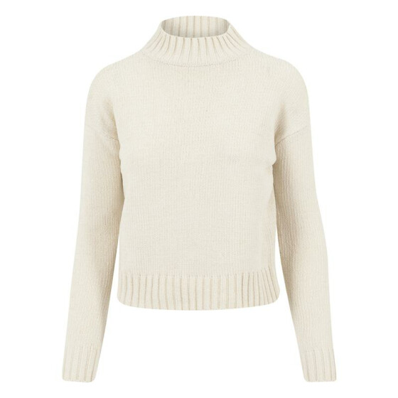 Urban Classics Ladies Chenille Turtleneck Crew, light sand