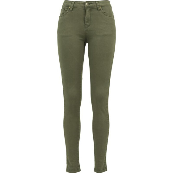 Urban Classics Ladies Skinny Pants, olive