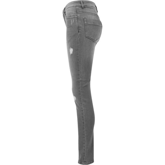 Urban Classics Ladies Ripped Denim Pants, grey