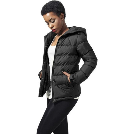 Urban Classics Ladies Bubble Jacket, black
