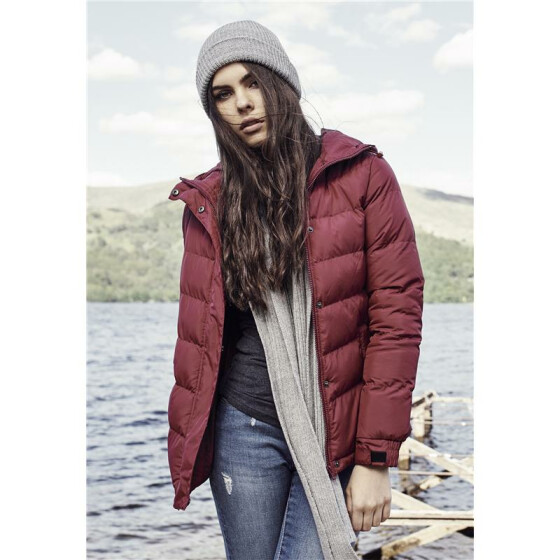 Urban Classics Ladies Bubble Jacket, burgundy