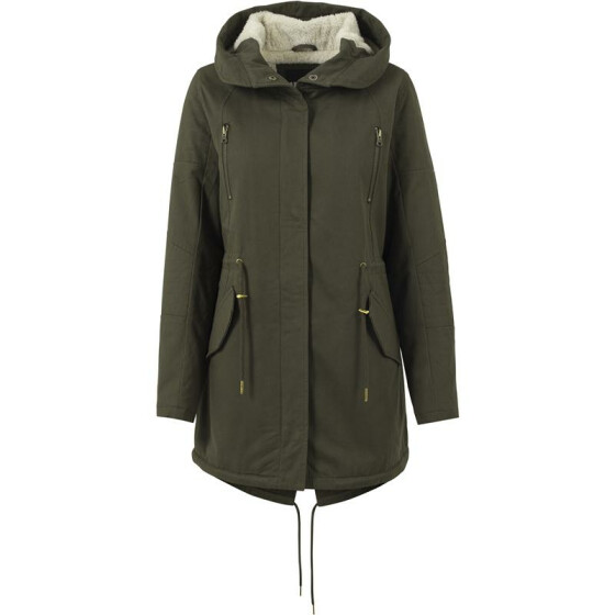 Urban Classics Ladies Sherpa Lined Cotton Parka, olive