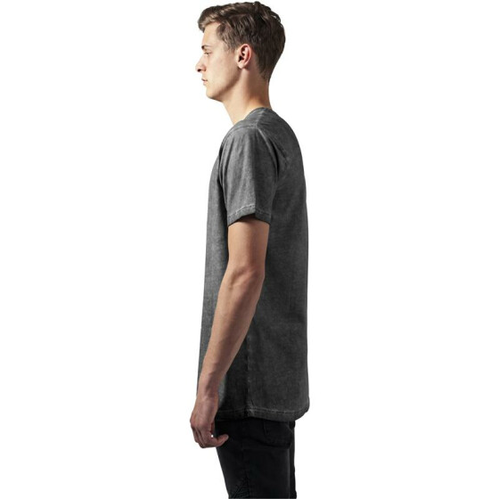 Urban Classics Shaped Long Cold Dye Tee, darkgrey