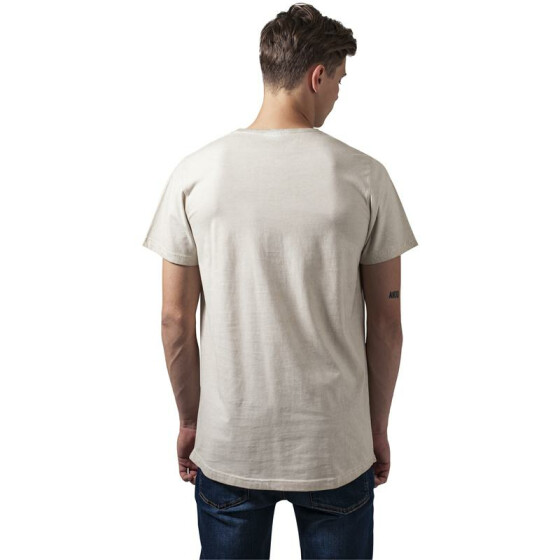 Urban Classics Shaped Long Cold Dye Tee, sand