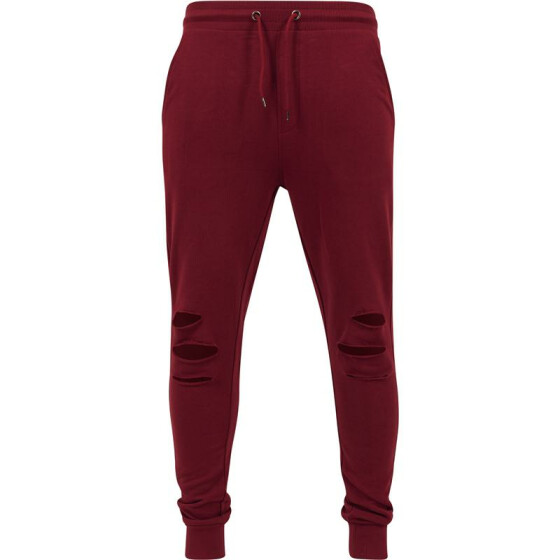 Urban Classics Cutted Terry Pants, burgundy