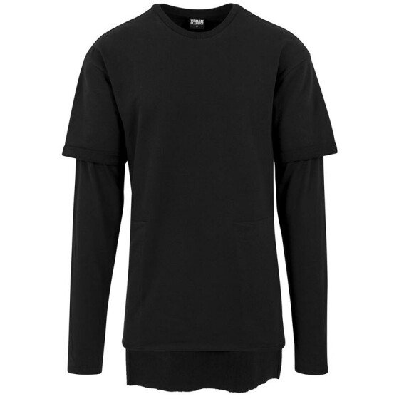 Urban Classics Long 2 in 1 Terry Crew, black