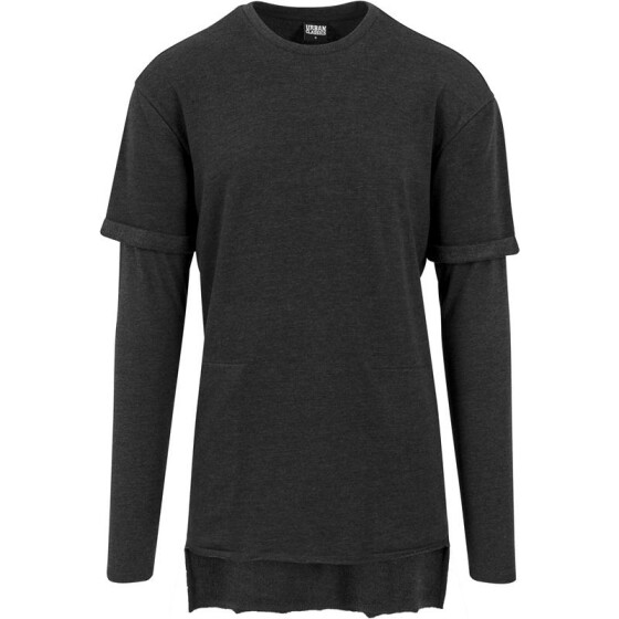 Urban Classics Long 2 in 1 Terry Crew, charcoal
