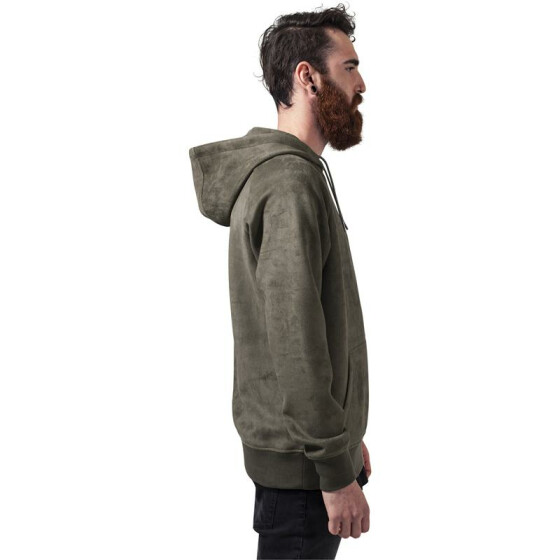 Urban Classics Imitation Suede Hoody, olive