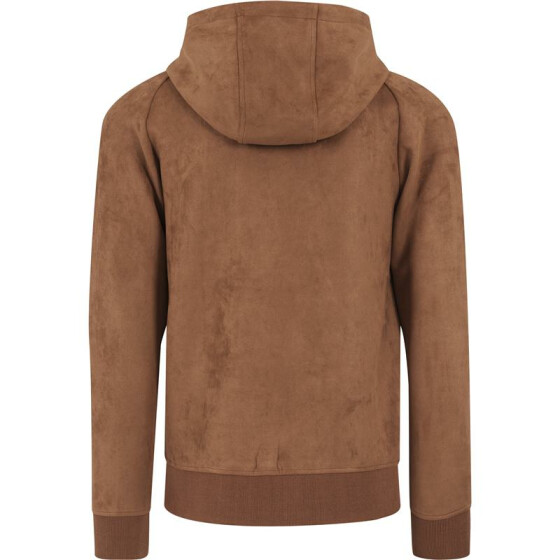 Urban Classics Imitation Suede Hoody, toffee