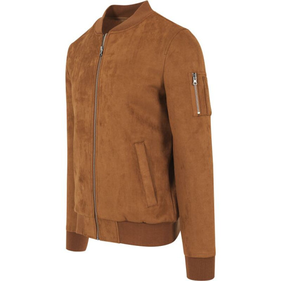 Urban Classics Imitation Suede Bomber Jacket, toffee