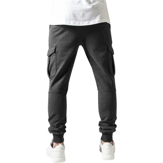 Urban Classics Fitted Cargo Sweatpants, charcoal