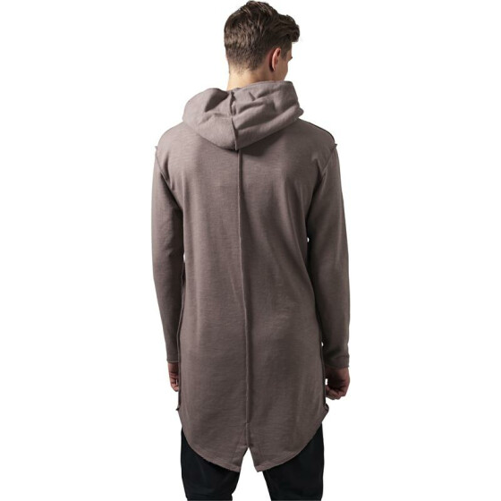 Urban Classics Long Slub Terry Open Edge Hoody, taupe