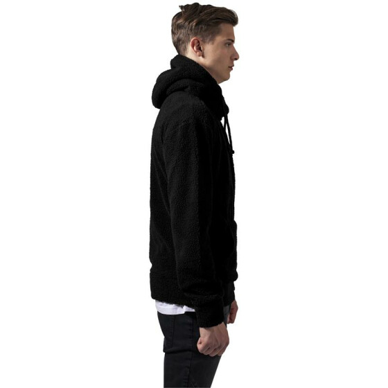 Urban Classics Sherpa High Neck Hoody, black