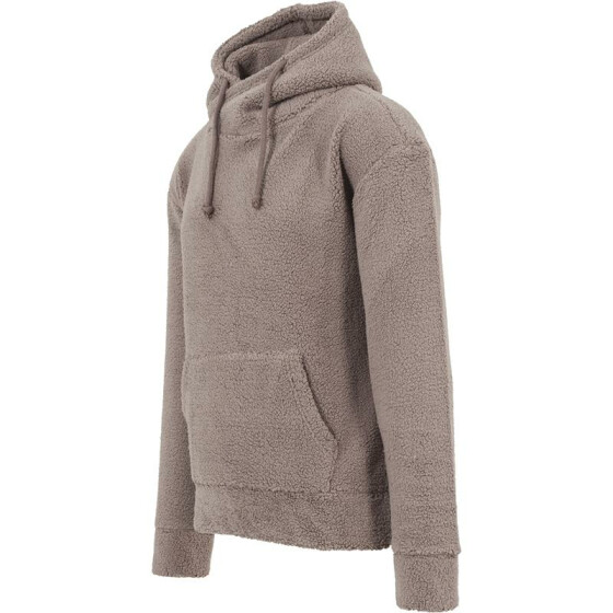 Urban Classics Sherpa High Neck Hoody, taupe