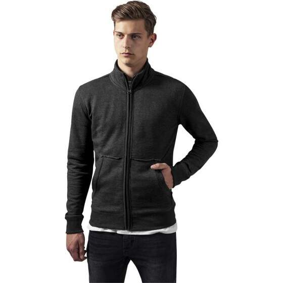 Urban Classics Loose Terry Zip Jacket, charcoal